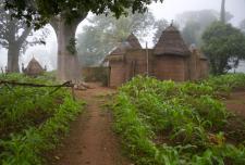 Lokale hutten in Benin